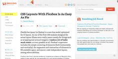 CSS Layouts With Flexbox Is As Easy As Pie | Smashing Coding