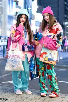 Disney Princess Bomber Jackets, Colorful Fashion & Cute Accessories in Harajuku (Tokyo Fashion News) Tokyo Street Fashion, Tokyo Street Style, Japanese Street Fashion, Japan Fashion, Moda Fashion, Fashion News, Girl Fashion, Fashion Outfits, Fashion Design