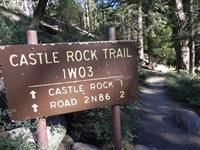 Hiking in Big Bear Castle Rock Trail