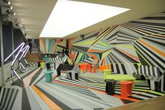 Razzle Dazzle inspired decoration of Galleria illy - Istanbul | Flickr