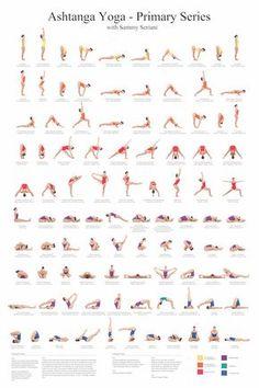 24 x 36 Ashtanga Yoga serie primaria con Sammy Seriani. Este cartel ilustra las posturas de la serie primaria Afiche a todo color muestra una alineación perfecta de las posturas. Invocación de Ashtanga yoga, en el sánscrito original, con una traducción. Una ayuda de gran aprendizaje para tu práctica de yoga