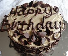 manly cake | Happy Birthday Post: Dark Chocolate Cake with Brown Sugar Frosting ...