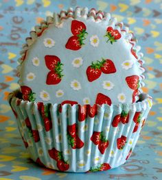 Sweet strawberry muffin baking cups cupcake liners cases 48 pcs