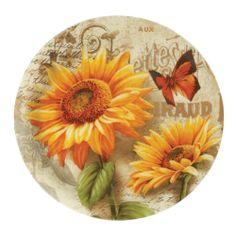 Pfaltzgraff Sunflower Round Glass Platter | eBay