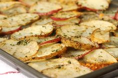Baked Herb and Parmesan Potato Slices