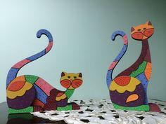 Country madera painting cats