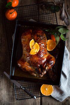kaczka w pomarańczach Tandoori Chicken, Poultry, Grilling, Food And Drink, Turkey, Baking, Dinner, Cake, Ethnic Recipes