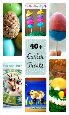 40 + Easter Treats Recipes for the family. #easter #eastertreats