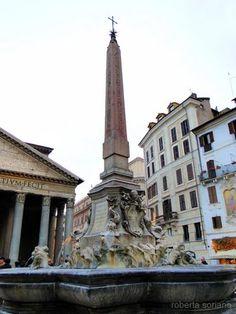 Fontana del Pantheon, Piazza della Rotonda