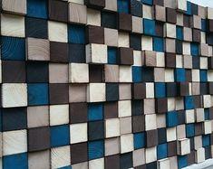 Recuperado arte de pared de madera, gran pared, escultura de madera de la pared