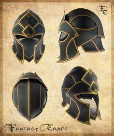 The fantasy helmet design opens possibilities