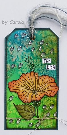 Card with DesignsbyRyn.com stamps, made by Caro´s Welt
