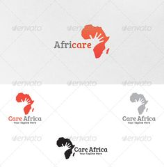 Care for Africa - Logo Template - Vector Abstract