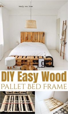 DIY bed frame ideas for your homeDIY bed frame ideas, DIY easy wooden pallet bed pallet coffee table & other projects 2019 - sensod - create.Pallet bed ideasDIY Bed Frame Ideas For Pallet Twin Beds, Wooden Pallet Beds, Pallet Bed Frames, Diy Pallet Bed, Diy Pallet Furniture, Pallet Ideas, Pallet Wood, Simple Bed Frame, Diy Bed Frame
