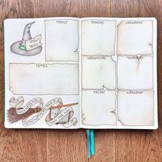 Bullet Journal Doodles: 20 Amazing Doodle Ideas For Beginners & Beyond! - Meraadi These bullet journal doodles and doodle tips and ideas are exactly what you need to learn how to doodle. Perfect for beginners and more advanced doodlers! Bullet Journal Harry Potter, Bullet Journal Notebook, Bullet Journal Spread, Bullet Journal Inspo, Bullet Journal Layout, Journal Pages, Bullet Journal October Theme, Harry Potter Planner, Bullet Journal Entries