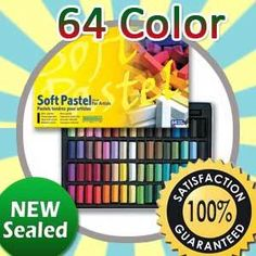 Brand New Mungyo Artist Soft Pastel Chalk Square 64 Color With Box Sealed Korea