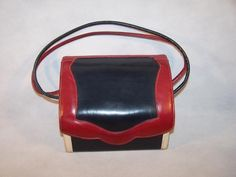 Vintage Red, White & Blue Mod Box Purse
