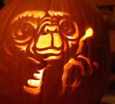 Picture of ★ E.T. Alien Jack-o-Lantern for Pumpkin Carving ...