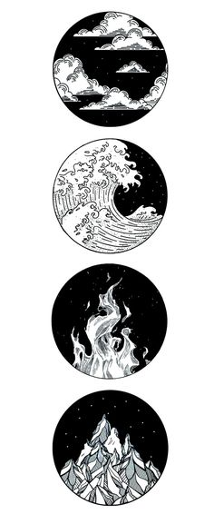 four elemental tattoo - four elemental tattoo - . - four elemental tattoo – four elemental tattoo – - Cool Art Drawings, Pencil Art Drawings, Art Drawings Sketches, Tattoo Sketches, Drawing Tattoos, Tattoo Design Drawings, Painting Tattoo, Drawing Drawing, Element Tattoo
