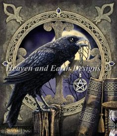 The Talisman - Painting by Lisa Parker.  Chart design by Michele Sayetta for Heaven and Earth Designs.