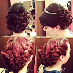 #Bridal hair #braidedhairstyle