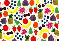An easy way to get your seven-a-day. Fruit pattern print by nikkimiles on Etsy, $15.50.