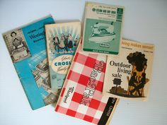 5 vintage appliance books . vintage Crosley products book . vintage products . vintage ads for 1950s household products vintage Westinghouse (13.00 USD) by GTDesigns