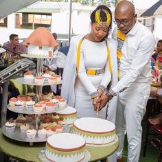 South African Venda Bride, Rachel & Her Groom Tshepo Wore Venda Fabric Inspired Bridal Attires For Their Wedding African Wedding Attire, African Attire, African Wear, African Dress, Xhosa Attire, African Love, African Beauty, African Design, African Print Fashion