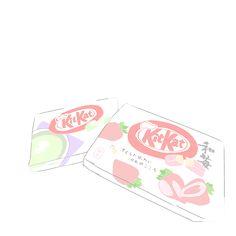 kitkat - Back Tumblr Drawings, Kawaii Drawings, Easy Drawings, Funny Illustration, Food Illustrations, Character Illustration, Kawaii Wallpaper, Cartoon Wallpaper, Kawaii Doodles