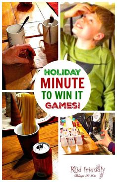 Our Minute To Win It Game Night - With A New Year, & Winter Theme - Great ideas for a family Minute To Win It Games to Play at Home. Holiday Party Games, Kids Party Games, Birthday Party Games, Birthday Ideas, Christmas Games For Kids, Christmas Fun, Holiday Fun, Minute To Win It Games Christmas, Christmas Goodies