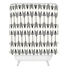 Bobby Berk Home Arrows Shower Curtain ($89) ❤ liked on Polyvore featuring home, bed & bath, bath, shower curtains and bobby berk home