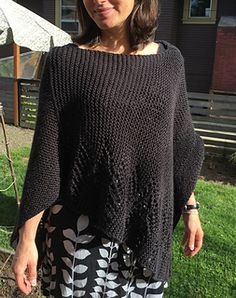 """This is a super simple poncho adapted from the common """"two rectangles"""" patterns. It is also an easy pattern that is great for beginners."""