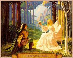The gift of Galadriel - Illustrazioni da antichi libri