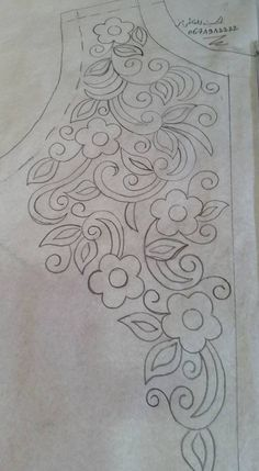 New Embroidery Designs Mexican Fabrics Ideas Border Embroidery Designs, Hand Embroidery Stitches, Crewel Embroidery, Applique Patterns, Ribbon Embroidery, Floral Embroidery, Applique Designs, Mexican Fabric, Motifs Perler