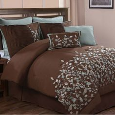 Chic Home 8-Piece Jardin Chocolate Comforter Set - Beyond the Rack