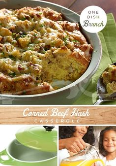 This Corned Beef Hash Casserole is a one-pot wonder, perfect for a weekend brunch or breakfast. Easy to make with MARY KITCHEN® Corned Beef Hash, eggs and bread cubes; it take just minutes to prep and bake. #onedishmeals