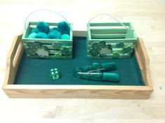Roll and Transfer Tray Activity (from Trillium Montessori)