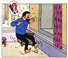 Mais bon sang, Tintin a vraiment une sale gueule ce matin!