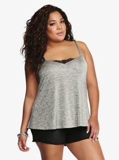 d0cffa609fd Lace Trim Cami. Curvy OutfitsPlus Size ...