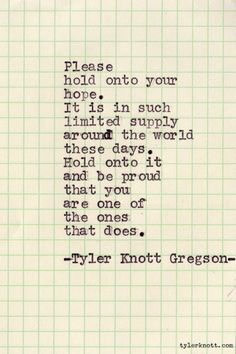 Typewriter Series Tyler Knott Gregson