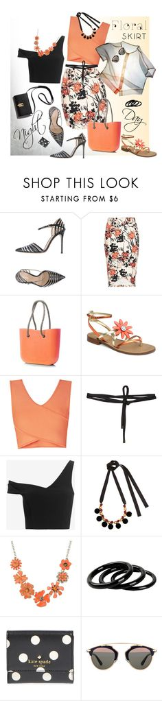"""The Perfect Summer Floral Skirt"" by ysmn-pan ❤ liked on Polyvore featuring Gianvito Rossi, BCBGMAXAZRIA, Beaufille, Shabd, Nicholas, Marni, Shourouk, Furla, Kate Spade and Christian Dior"