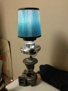 Turbo or supercharger Table lamp with air filter lamp shade
