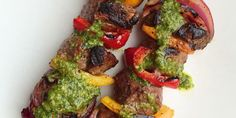 Best Grilled Steak Skewers with Chimichurri Recipe-How to Make Grilled Steak Skewers with Chimichurri-Delish.com