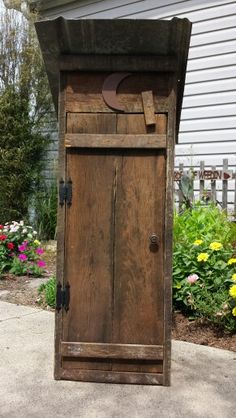 Barnwood outhouse