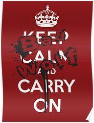Keep calm . . .BAD WOLF