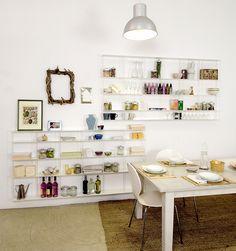 Wall-mounted sectional aluminium bookcase. KROSSING by KRIPTONITE design Roberto De Sabato