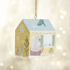 Bright Wilderness House Ornament in Rebuilding Together Ornaments | Crate and Barrel