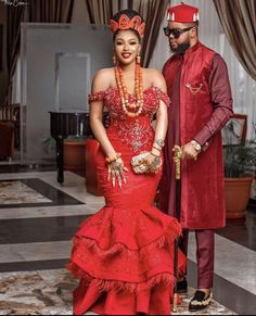 Couples African Outfits, Best African Dresses, Latest African Fashion Dresses, African Print Fashion, Nigerian Wedding Dresses Traditional, Traditional Wedding Attire, African Traditional Dresses, African Wedding Attire, African Attire