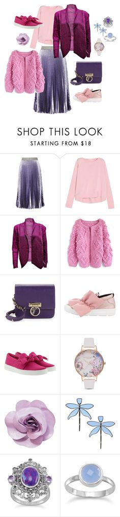 """Analog colors contrast"" by klementina1111 on Polyvore featuring мода, Christopher Kane, Antonio Berardi, Chicwish, Versace, MSGM, Michael Kors, Olivia Burton, Chanel и Tory Burch"