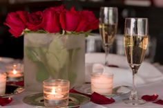 Romantic meals at home for less than $10.00. Idle chat about respective days not included.